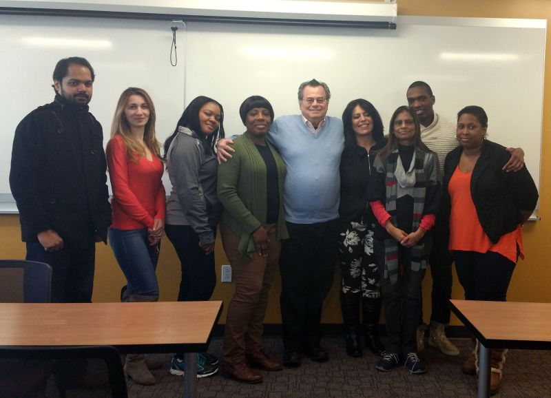 Prof. Cuzzi with his class at Berkeley College.