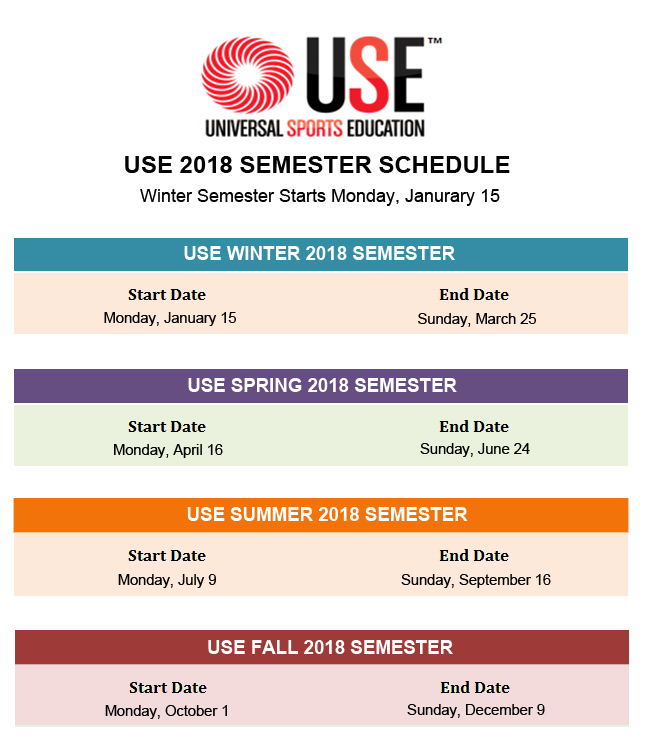 USE Schedule 2018